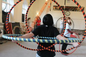 Meg and Rowan Hula-Hoop Peacocks