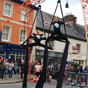 Brecon Jazz Festival show with aerial rig