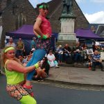 Brecon Jazz Festvial Robyn and Rae Acrobats