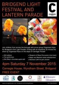 Bridgend Festival of light flyer 2015