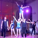 Cruise Nation group shoulder stand