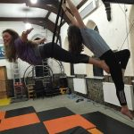 doubles aerial hoops 2 training space