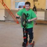 unicycle and pedal-go play training space